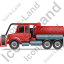Sewer Cleaning Truck Left Red Icon
