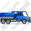 Sewer Cleaning Truck Right Blue Icon