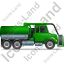 Sewer Cleaning Truck Right Green Icon, PNG/ICO, 64x64