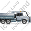 Sewer Cleaning Truck Right Grey Icon