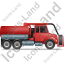Sewer Cleaning Truck Right Red Icon