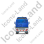 Tractor Flatbed Trailer Back Blue Icon, PNG/ICO, 64x64