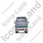 Tractor Flatbed Trailer Back Grey Icon