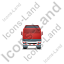Tractor Flatbed Trailer Back Red Icon