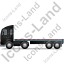 Tractor Flatbed Trailer Left Black Icon, PNG/ICO, 64x64