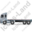 Tractor Flatbed Trailer Left Grey Icon