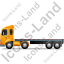Tractor Flatbed Trailer Left Yellow Icon