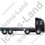 Tractor Flatbed Trailer Right Black Icon, PNG/ICO, 64x64