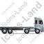 Tractor Flatbed Trailer Right Grey Icon