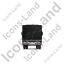 Tractor Trailer Back Black Icon, PNG/ICO, 64x64