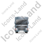 Tractor Trailer Front Grey Icon, PNG/ICO, 64x64