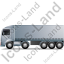 Tractor Trailer Left Grey Icon