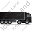 Tractor Trailer Right Black Icon