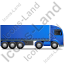 Tractor Trailer Right Blue Icon, PNG/ICO, 64x64