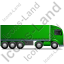 Tractor Trailer Right Green Icon