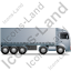 Tractor Trailer Right Grey Icon