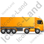 Tractor Trailer Right Yellow Icon, PNG/ICO, 64x64