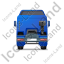 Tractor Unit Back Blue Icon