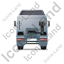Tractor Unit Back Grey Icon