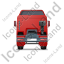Tractor Unit Back Red Icon