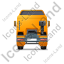 Tractor Unit Back Yellow Icon