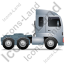 Tractor Unit Right Grey Icon