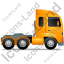 Tractor Unit Right Yellow Icon