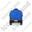 Water Tank Truck Back Blue Icon