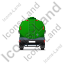 Water Tank Truck Back Green Icon