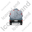 Water Tank Truck Back Grey Icon