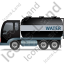 Water Tank Truck Left Black Icon