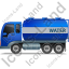 Water Tank Truck Left Blue Icon