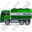 Water Tank Truck Left Green Icon