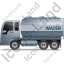 Water Tank Truck Left Grey Icon