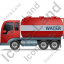 Water Tank Truck Left Red Icon