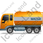 Water Tank Truck Left Yellow Icon