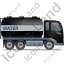 Water Tank Truck Right Black Icon