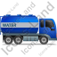 Water Tank Truck Right Blue Icon