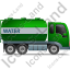 Water Tank Truck Right Green Icon