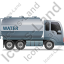 Water Tank Truck Right Grey Icon
