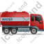 Water Tank Truck Right Red Icon