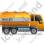 Water Tank Truck Right Yellow Icon