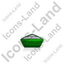 Boat Back Green Icon, PNG/ICO, 128x128