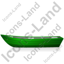 Boat Left Green Icon, PNG/ICO, 128x128