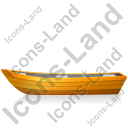 Boat Left Yellow Icon, PNG/ICO, 128x128