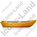 Boat Right Yellow Icon, PNG/ICO, 128x128