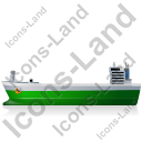 Bulk Carrier Left Green Icon, PNG/ICO, 128x128