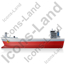 Bulk Carrier Left Red Icon