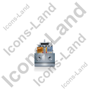 Container Ship Front Grey Icon, PNG/ICO, 128x128