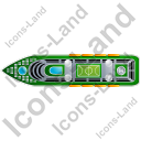 Cruise Ship Top Green Icon, PNG/ICO, 128x128